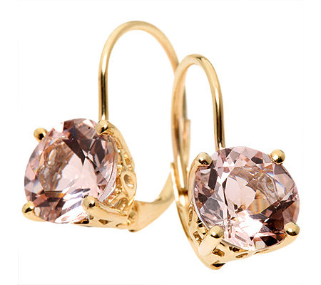 Morganit AAA/1,90ct Rundschliff Ohrboutons Gold 585