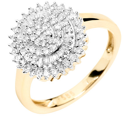 GLAMOUR DIAMONDS 78 Diamanten zus.ca.0,40ct. Cocktail-Ring Gold 585