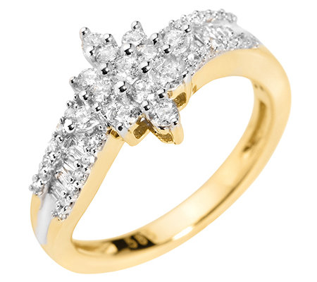 GLAMOUR DIAMONDS 49 Diamanten zus.ca.0,50ct. Weiß/P1 Ring, Gold 585