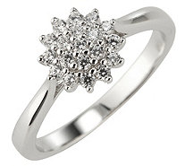 DIAMONIQUE® Ring = 0,19ct Brillantschliff Silber rhodiniert - 695042