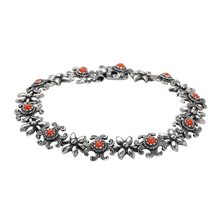 TOM HILL Trachtenschmuck rote Koralle Armband Silber 925