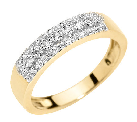 FIRST DIAMOND 39 Diamanten zus.ca.0,20ct. Ring Gold 333