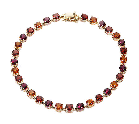 multicolor rund facettiert 8,59ct./Länge 18,5cm Armband Gold 375