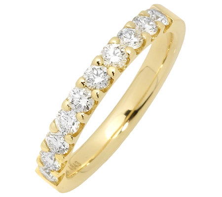 10 Brillanten zus.ca.0,70ct hf.Weiß/lupenrein Memoire-Ring Gold 750
