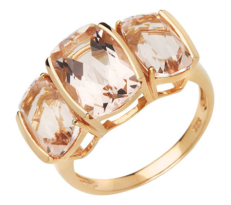 Morganit AAA/6,00ct Kissenschliff Ring Roségold 585