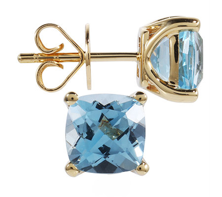 Itinga Topas Skyblue ca.3,00ct Ohrstecker Gold 375