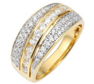 CANADIAN DIAMONDS Ring 58 Brillanten zus.ca.0,75ct Gold 750