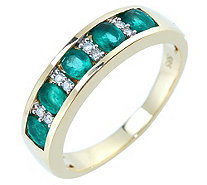 Sambia Smaragd Ring Ovalschliff 0,75ct Brillanten 0,06ct Gold 585 - 607250