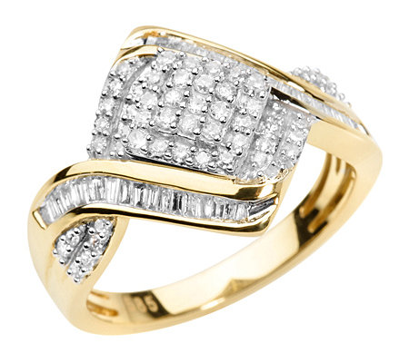 GLAMOUR DIAMONDS 91 Diamanten zus.ca.0,50ct. Cocktail-Ring Gold 585