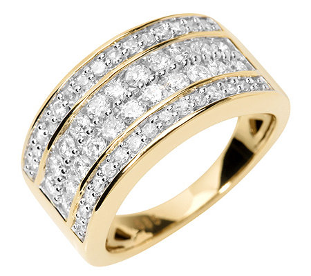 52 Diamanten zus.ca.1,00ct. Weiß/P1 Cocktail-Ring Gold 585