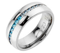 DIAMONIQUE® TITAN Eternityring = 0,90ct poliert - 695052