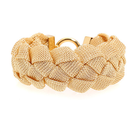 JOY AND JOY Armband Flechtoptik ca. 21cm Lurex