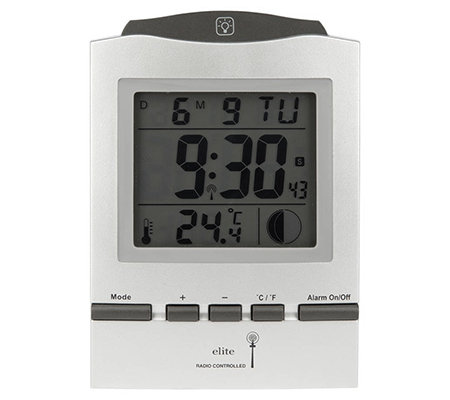 ELITE Funkwecker Mondphase LC-Display