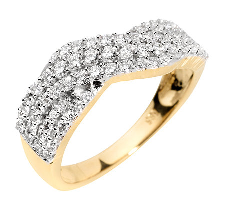 71 Brillanten zus.ca.0,75ct. Weiß/SI Ring Gold 585
