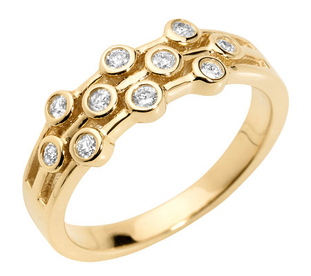 FIRST DIAMOND 10 Diamanten zus.ca.0,20ct. Ring Gold 333