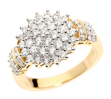 CANADIAN DIAMONDS 61 Brillanten zus.ca.1,00ct Cocktail-Ring Gold 750