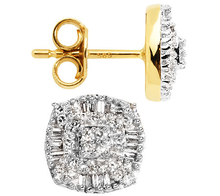 GLAMOUR DIAMONDS 80 Diamanten zus.ca.0,30ct. Ohrstecker Gold 585