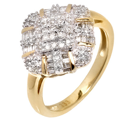 GLAMOUR DIAMONDS 85 Diamanten zus.ca.0,50ct. Ring Gold 333
