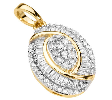GLAMOUR DIAMONDS 72 Diamanten zus.ca.0,33ct. Anhänger Gold 585