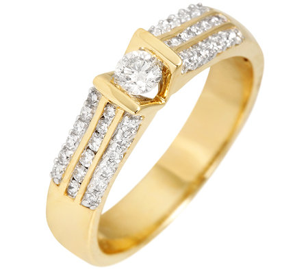 CANADIAN DIAMONDS 37 Brillanten zus.ca.0,50ct. feines Weiß/SI Ring, Gold 750