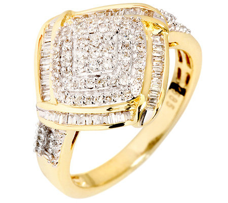 GLAMOUR DIAMONDS 137 Diamanten zus.ca.0,50ct. Ring Gold 585