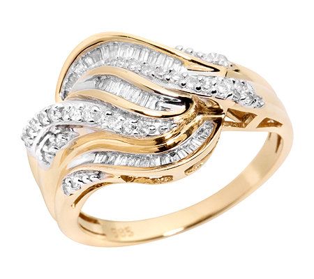 GLAMOUR DIAMONDS 71 Diamanten zus.ca.0,33ct. Cocktail-Ring Gold 585