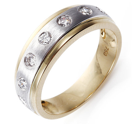 7 Brillanten zus. ca. 0,30ct Weiß/SI2 Ring Platin950/Gold750