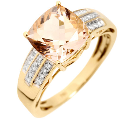 Morganit AAA/3,00ct 26 Brill.0,10ct Ring Gold 750