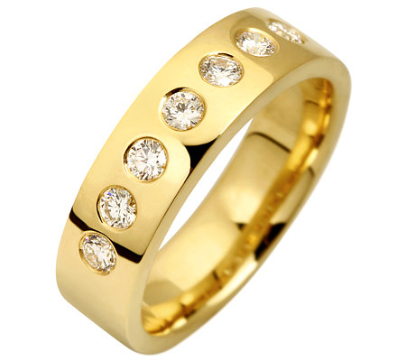 7 Brillanten zus.ca.0,40ct. hf.Weiß/lupenrein Ring Gold 750