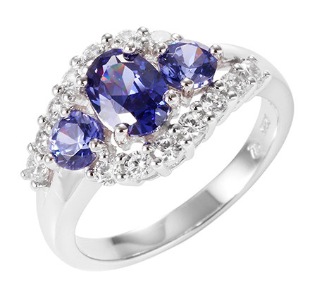 DIAMONIQUE® = 1,67ct Schliffmix Ring Silber rhodiniert