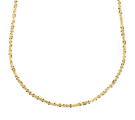 VERONESE COLLECTION Silber 925 Criss Cross Kette Länge ca. 76cm 18K vergoldet
