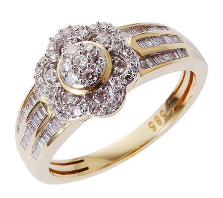 GLAMOUR DIAMONDS 95 Diamanten zus.ca.0,50ct. Ring Gold 585