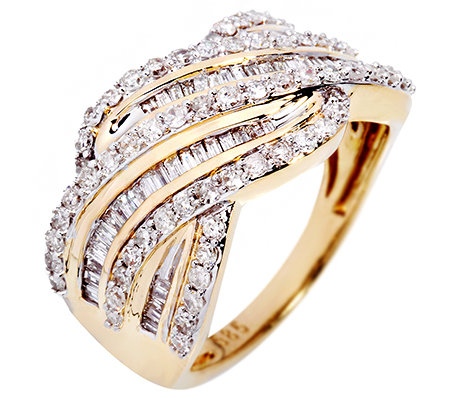 GLAMOUR DIAMONDS 113 Diamanten zus.ca.1,00ct. Ring Gold 585