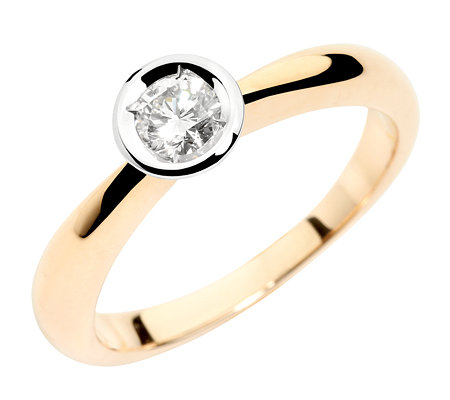 SOLITAIRE-Ring 1 Brillant ca.0,25ct. Weiß/Lupenrein Gold 585