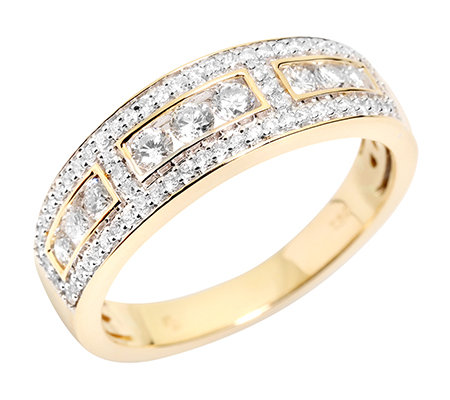 CANADIAN DIAMONDS 71 Brillanten zus.ca.0,50ct. feines Weiß/SI2 Ring, Gold 750