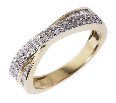 GLAMOUR DIAMONDS 56 Diamanten W/P1 zus.ca.0,35ct Croisé-Ring Gold 375