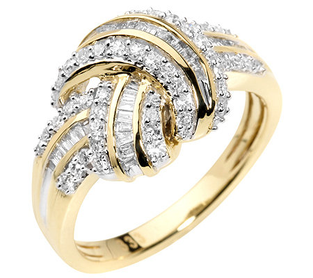 GLAMOUR DIAMONDS 88 Diamanten zus.ca.0,50ct. Weiß/P1 Ring, Gold 333