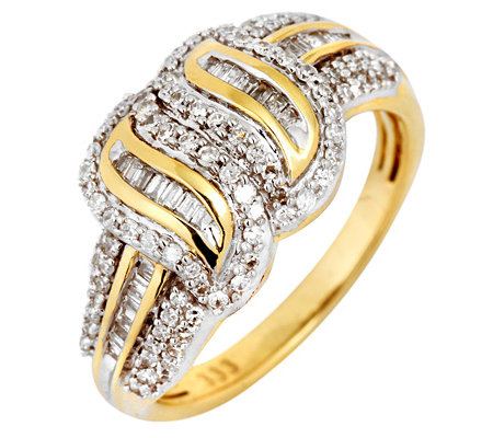 GLAMOUR DIAMONDS 130 Diamanten zus.ca.0,50ct. Weiß/P1 Ring, Gold 333