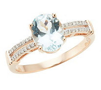 Ring Aquamarin Brillanten - 606972