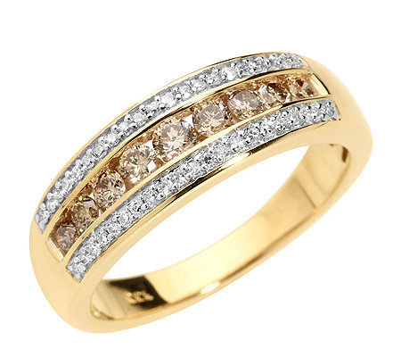 Australian Diamonds 51 Diamanten zus.ca.0,50ct. Ring Gold 333