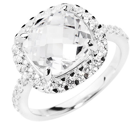 DIAMONIQUE® by PRINCESS v.AUERSPERG Entourage-Ring 35 Steine =4,34ct. Silber 925