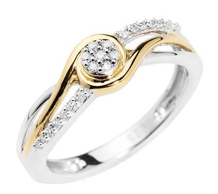 SILVER LINE 21 Diamanten zus.ca.0,10ct. Ring Silber 925, bicolor