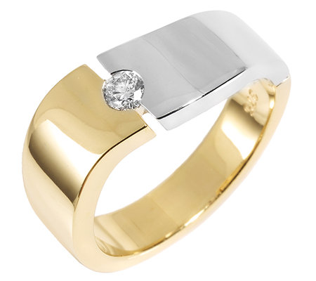 First Diamond 1 Brillant W/P1 ca.0,10ct Solitär-Ring Gold 375