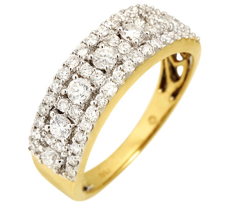CANADIAN DIAMONDS 55 Brillanten zus.ca.1,00ct Ring Gold 750