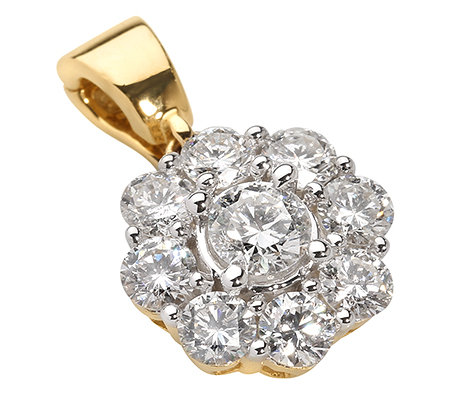 CANADIAN DIAMONDS 9 Brillanten zus.ca.1,00ct. Vario-Anhänger Gold 750