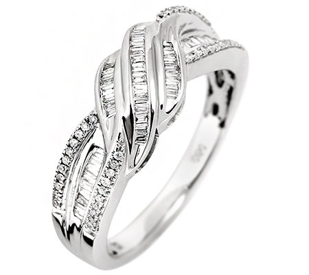 GLAMOUR DIAMONDS 89 Diamanten zus.ca.0,25ct. Weiß/SI Ring, Weißgold 585