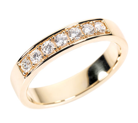 7 Brillanten zus.ca.0,35ct. hf.Weiß/lupenrein Ring Gold 750