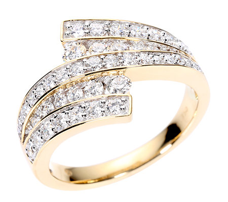 CANADIAN DIAMONDS Ring 49 Brillanten zus. ca. 1,00ct Gold 750