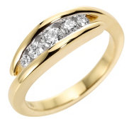 CANADIAN DIAMONDS Ring 5 Brillanten zus. ca. 0,40ct Gold 750