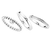 JETTE Ring-Set 25 Zirkonia - 634690